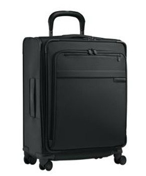 """[Briggs & Riley 20"""" Carry-on Wide Body Upright Spinner - Black - 3 Day Shipping Upgrade] (20"""