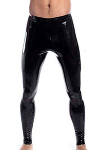 AvaCostume Black Latex Leggings Pants