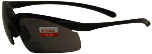 Global Vision Apex Bifocal Safety Glasses (Black Frame/Smoke Lens) AVAPEX2.5SM