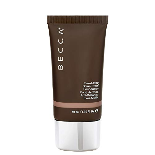 Becca Cosmetics Ever-Matte Proof Shine Foundation, Mahogany (Best Foundation Ever For Oily Skin)