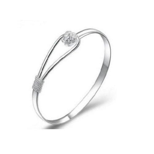 UZZO Элегантные и декоративные Женщины ювелирных изделий 925 стерлингового серебра твердого Мода браслет долговечны и практичны манжеты браслет цепи браслеты