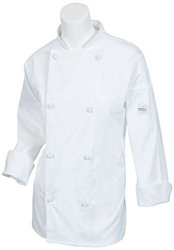Mercer Culinary M61040WH3X Genesis Women's Jacket with Cloth Knot Buttons, 3X-Large, White