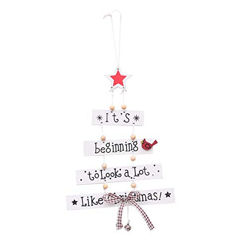 - Tree Toppers - Christmas Wooden Colorful Letters Decorative Pendants Pentagram Decorations - Burlap Thrones Santa Rainbow Rattan Battery Bow Multicolor Feathers Lighted