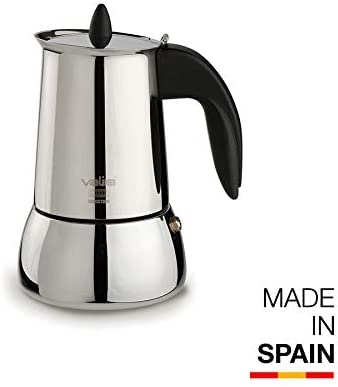 Valira | Isabella | Cafetera apta para inducción | 4 tazas, Acero ...