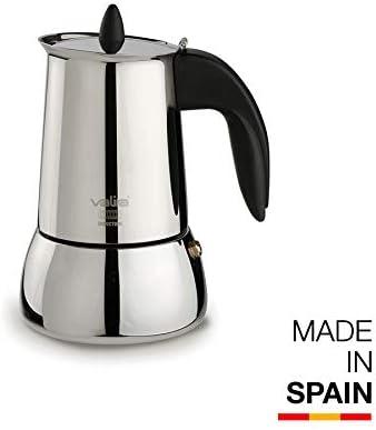 Valira | Isabella | Cafetera Apta para inducción | 4 Tazas, Acero 18/10: Amazon.es: Hogar