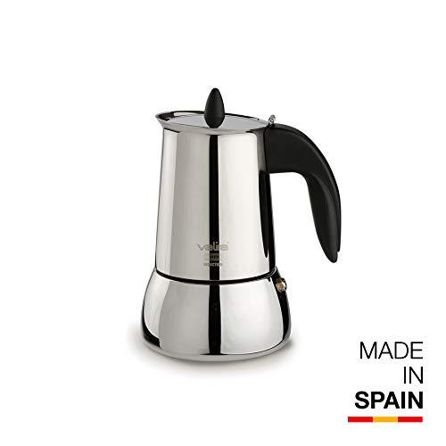 Valira | Isabella | Cafetera Apta para inducción | 4 Tazas, Acero 18/10
