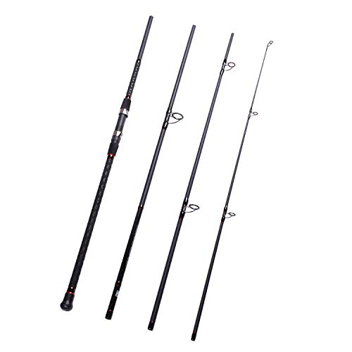 - Fiblink Surf Spinning Fishing Rod 4-Piece Graphite Travel Fishing Rod(11-Feet & 13-Feet & 15-Feet) (Length: 11')