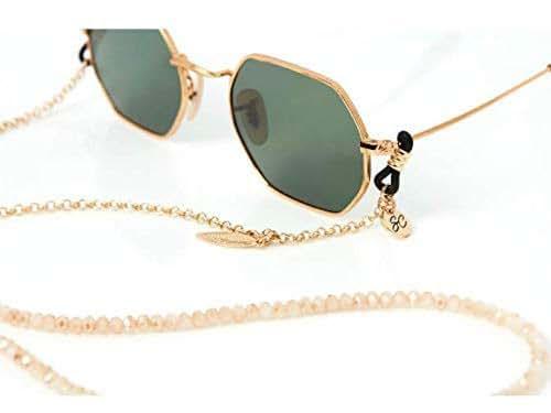 Amazon.com: Beaded Glasses Chain | Sunglass Strap in gold
