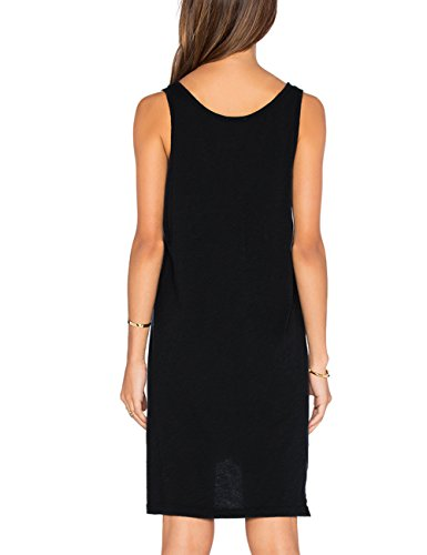 Dress Top Casual Womens Dohia Shirt New Black Summer Dresses Tank Sleeveless T Swing XBzCq1
