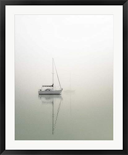 Sailboats by Nicholas Bell Photography Framed Art Print Wall Picture, Black Frame, 30 x 37 inches