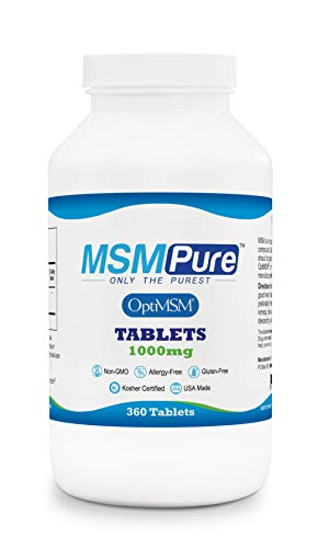 Kala Health MSMPure Tablets, 1000 mg, Pure MSM Organic Sulfur Supplement, Made in USA, 360 Count