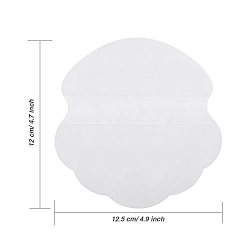 BBTO 100 Pieces Underarm Sweat Pads Disposable Armpit Sweat Guard Sweating Sticker Sheet Liner Dress Clothing Shield, White by BBTO (Image #3)