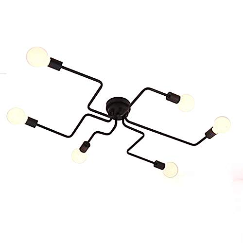Aero Snail Retro Creative Metal Flush Mount 6-Light Cafe Bar Ceiling Lamp Chandelier Lighting Fixure For Sale