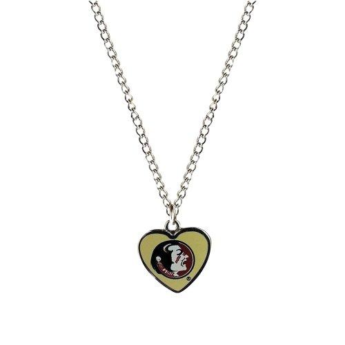 - NCAA Florida State Seminoles Heart Shaped Pendant Necklace Charm