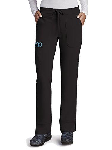 Grey's Anatomy Signature Women's 3 Pocket Low Rise Scrub Pant, Black, (Signature Pocket)