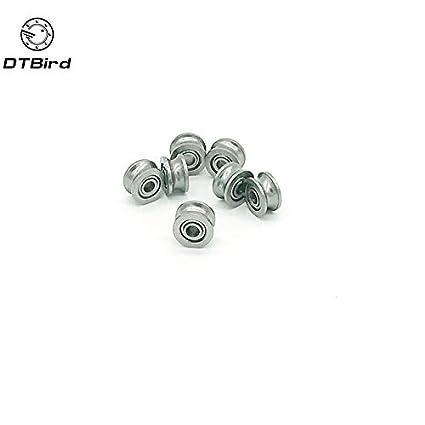 Ochoos 10pcs 624UU U Groove HCS Guide Pulley Rail Ball Bearings Wheel Roll 4137mm