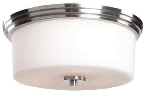 Artcraft Lighting Russell Hill 2-Light Flush Mount, Polished Nickel