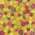 "Karen Foster Tropical Vacation Paper 12""X12"" Tropical Flowers; 25 Items/Order"