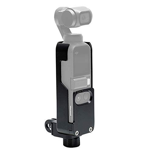 Serveyou Protective Case Durable Heat Dissipation Photography Stabilizer Aluminum Alloy Sport Cover Mount Camera Frame Housing Shell Gimbal Accessories for DJI OSMO Pocket(Black)