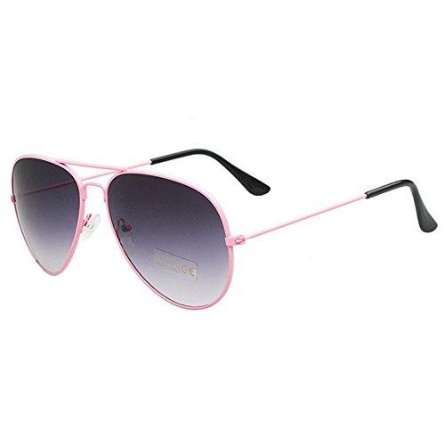 AMAZZANG-New Retro Outdoor Sports Aviator Sunglasses Unisex Eyewear Driving Glasses (PINK BOX DOUBLE-GRAY - Darren Sunglasses Pink Criss Buy
