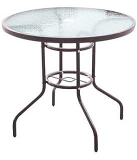 Multistore 2002 Table de bistrot en verre 60 x 60 cm Argenté: Amazon ...