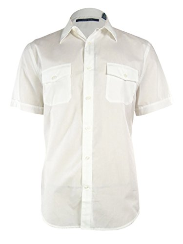 Perry Ellis Men's Micro-Dot Shirt, Bright White Small