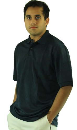 CoolMax Jacquard Mesh Golf Polo Shirt