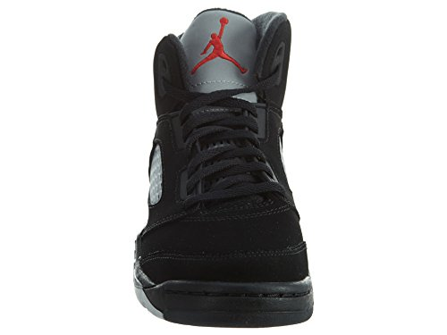 Nike Baby Boys Air Jordan 5 Retro BP OG Metallic Black/Fire Red-Mtllc Silver Suede Size 1Y by Jordan (Image #5)