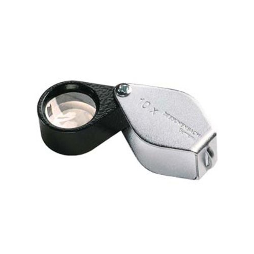 Eschenbach 1176-10 Aplanatic Folding Loupe Magnifier, 10x Magnification, 40 Diopter, 23mm Lens Diameter