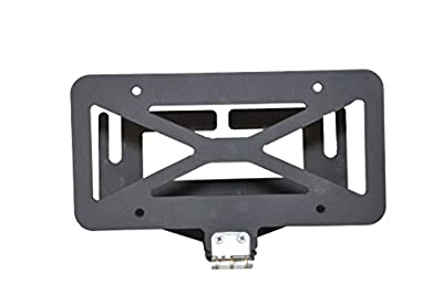 4X4 Flip-Up License Plate Mount Winch Roller Fairlead Hawse Hinge Bracket