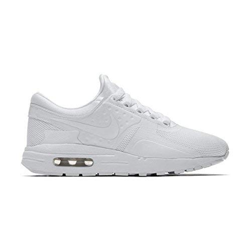 newest collection e9a49 5b2b0 Galleon - NIKE Air Max Zero Essential GS Running Trainers 881224 Sneakers  Shoes (UK 4 US 4.5Y EU 36.5, White Wolf Grey 100)