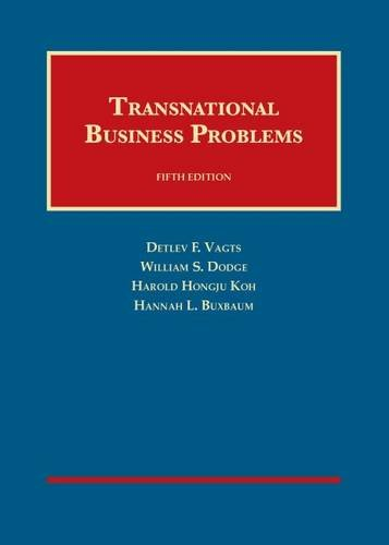 Transnational Business Problems (University Casebook Series) PDF
