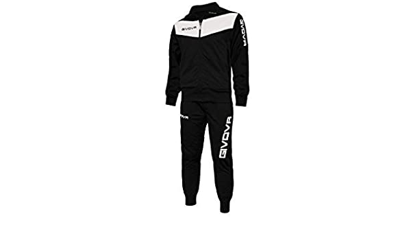 f6ff80ff8ea56 Amazon.com   Givova Tuta Visa Tracksuit Black White S by Givova   Sports    Outdoors