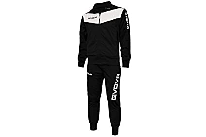 35e1e1e0328b1 Image Unavailable. Image not available for. Color  Givova Tuta Visa Tracksuit  Black White ...