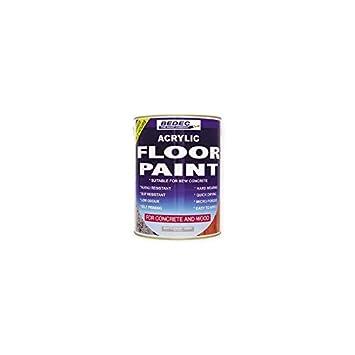 Bedec Acryl Auf Wasserbasis Boden Paint White 20 Liter Amazon De