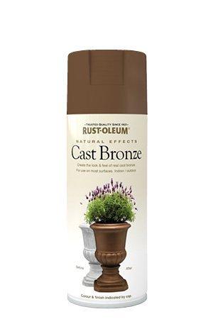 Rust-Oleum Natural Effects Cast Bronze Lightly Textured Metallic 400ml Spray Paint by Rustoleum