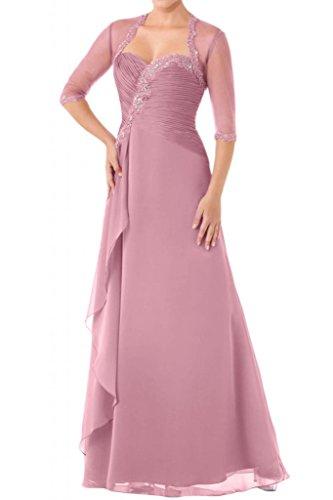 Toscana sposa donna a forma di cuore Bolero Chiffon tulle sera vestimento sposa madre festa Ball Bete per vestiti rosa 40