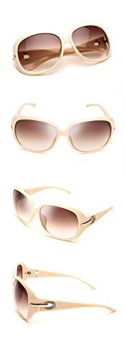 Lunettes Duco teintées classiques grands verres lunettes de soleil polarisées 100% Protection UV 6214 Beige Cadre Brun Lens