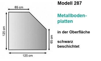 Lienbacher Metallbodenplatte,Stä rke 1,5 mm, 125 x 65 x 65 x 125 cm, 5-Eck, schwarz