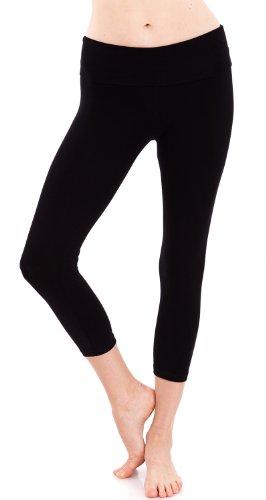 Womens Slimming Foldover Capri Pants
