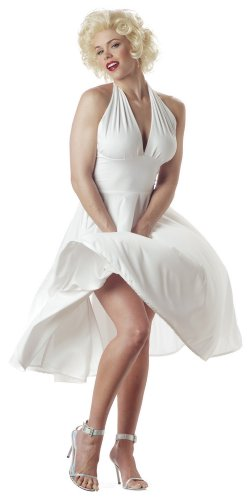 California Costumes Women's  Marilyn Costume,White,Large