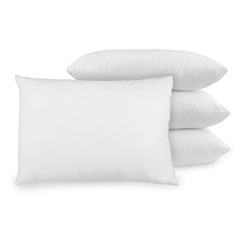 Best Seller in Bed Pillow Pillowcases BioPEDIC 4-Pack Bed Pillows with Built-In Ultra-Fresh Anti-Odor Technology, Standard Size, White