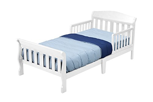 Delta Children Canton Toddler Bed, White (Delta Children Sweet Beginnings)