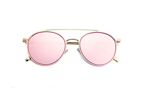 de gafas gafas gafas brillante doble sol Versión en sol haz Cherry moda gafas powder de de GLSYJ sol metal retro color de coreano LSHGYJ de AvHqO