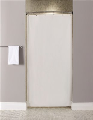 STALL SIZE SHOWER CURTAIN, WHITE, 10 GAUGE, 72 IN. X 36 IN.: Amazon ...