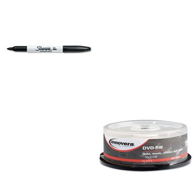 KITIVR46848SAN30001 - Value Kit - Innovera DVD-RW Discs (IVR46848) and Sharpie Permanent Marker (SAN30001) by Innovera