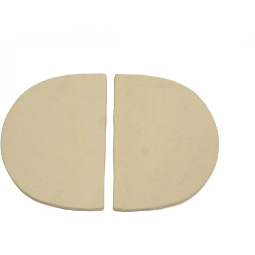 Primo 324 Ceramic Heat Reflector Plates for Primo Oval XL Grill, 2 per Box (Grill Oval Xl)