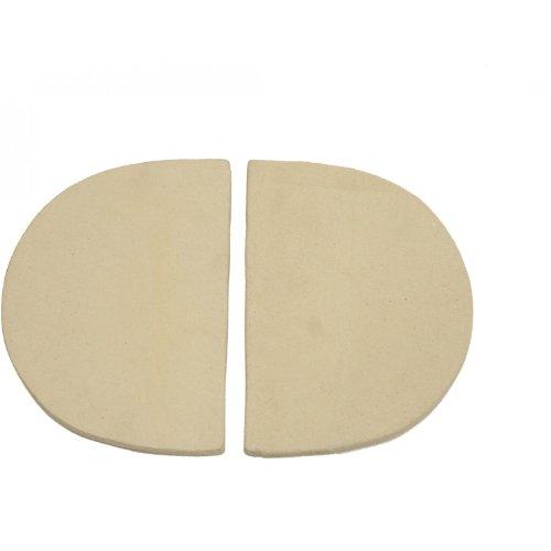 Primo 324 Ceramic Heat Reflector Plates for Primo Oval XL Grill, 2 per Box (Xl Grill Oval)