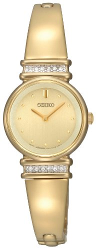 Crystal Bangle Champagne Dial Watch (Seiko Ladies Watch Champagne Dial)