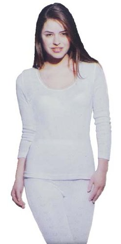 i-Smalls Womens Delux Thermal Long Sleeve Spencer Top Baselayer Underwear Loungewear